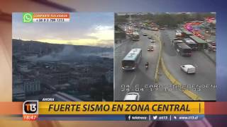 Canal 13 - EXTRA - Fuerte sismo en la zona central