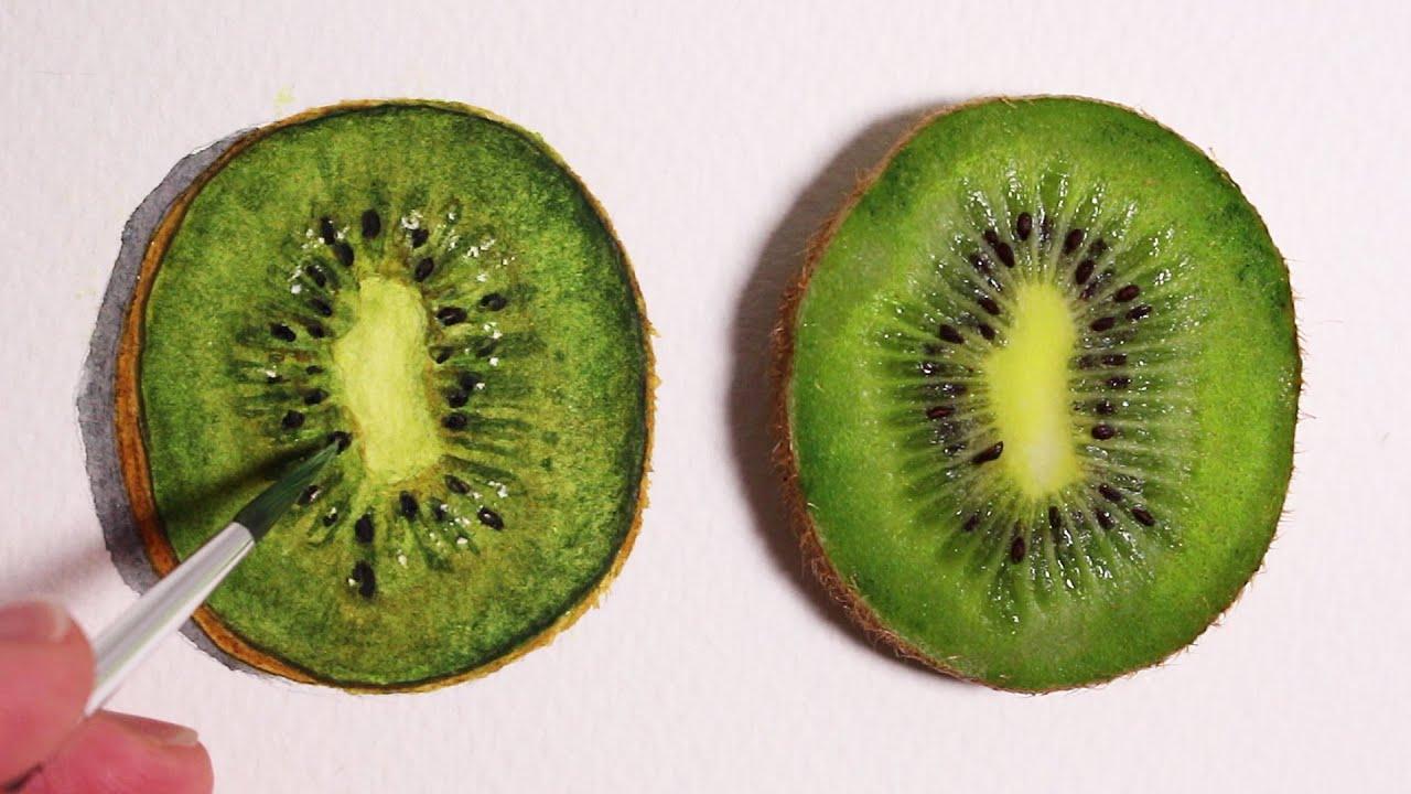 Line Drawing Kiwi : Realism challenge how to draw a kiwi fruit youtube