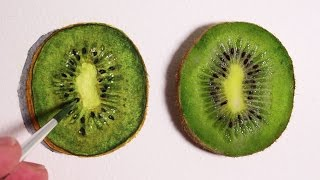 Realism Challenge #2: Kiwi Fruit Drawing Time-Lapse