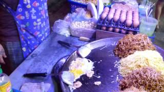 Best Amazing Walking Street Pattaya Cooking Noodle Pad Thai Street Food Thailand