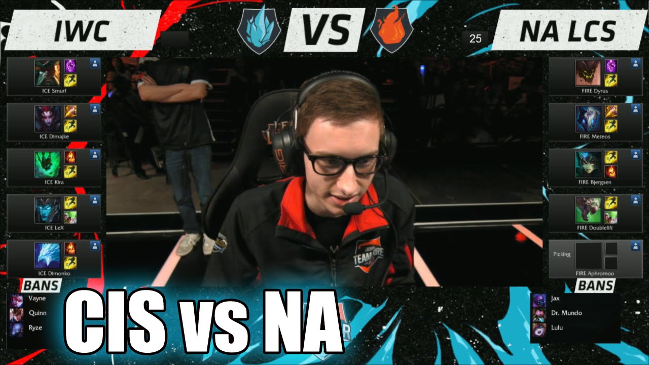IWC vs NA LCS | Day 2 LoL All-Stars 2015 in Los Angeles | CIS (ICE) vs NA  (FIRE) #Allstar - YouTube