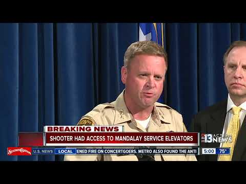 Vegas shooter had access to Mandalay Bay service elevators