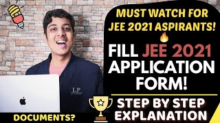 Fill JEE Mains 2021 Application Form Step by Step | Documents required? | Yash Garg