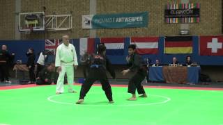 Pencak Silat - Indonesia VS Malaysia - Belgium Open 2013 - Highlights