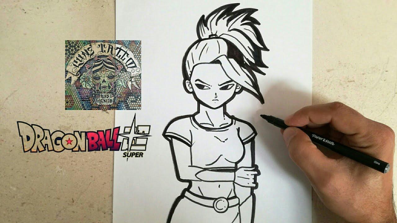 Como Dibujar A Kale Dragon Ball Super How To Draw Kale Dragon Ball Super
