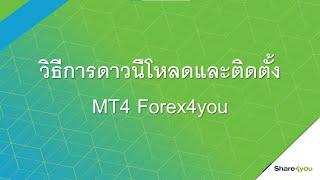 วิธีการดาวน์โหลดและติดตั้ง โปรแกรม MT4 Forex4you