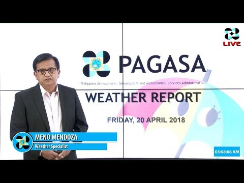 Public Weather Forecast Issued at 4:00 AM April 20 2018