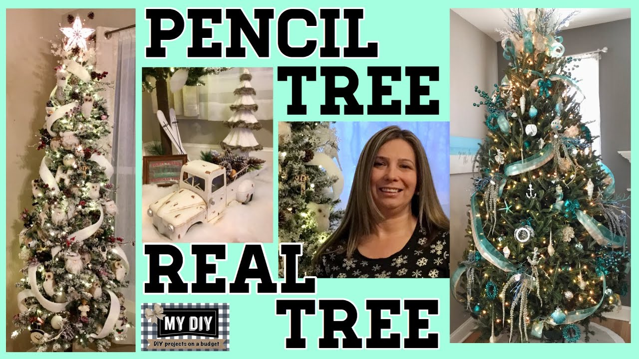 Pencil Christmas Tree Decorating How To Put A Ribbon On A Real Christmas Tree 2 Trees Youtube