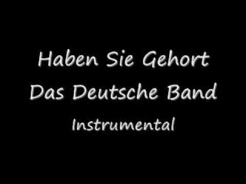 Haben Sie Gehort Das Deutsche Band Instrumental