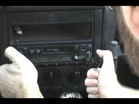 Vw Jetta Stereo Removal Youtube