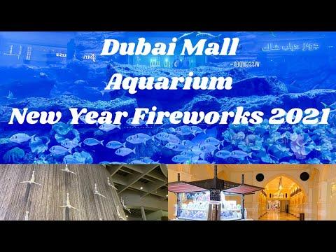 SHARKS in Dubai AQUARIUM | Dubai Mall Tour | BURJ KHALIFA New Year 2021 Fireworks 💥 🔥🔥❤️ 🐟