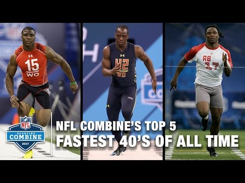 UPDATED! Top 5 Fastest 40-Yard Dashes Of All Time 🔥🔥🔥 | NFL Scouting Combine