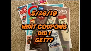 5/26/19 WHAT COUPONS DID I GET?   TIDE 😱   TARGET & FAMILY DOLLAR PREVIEW