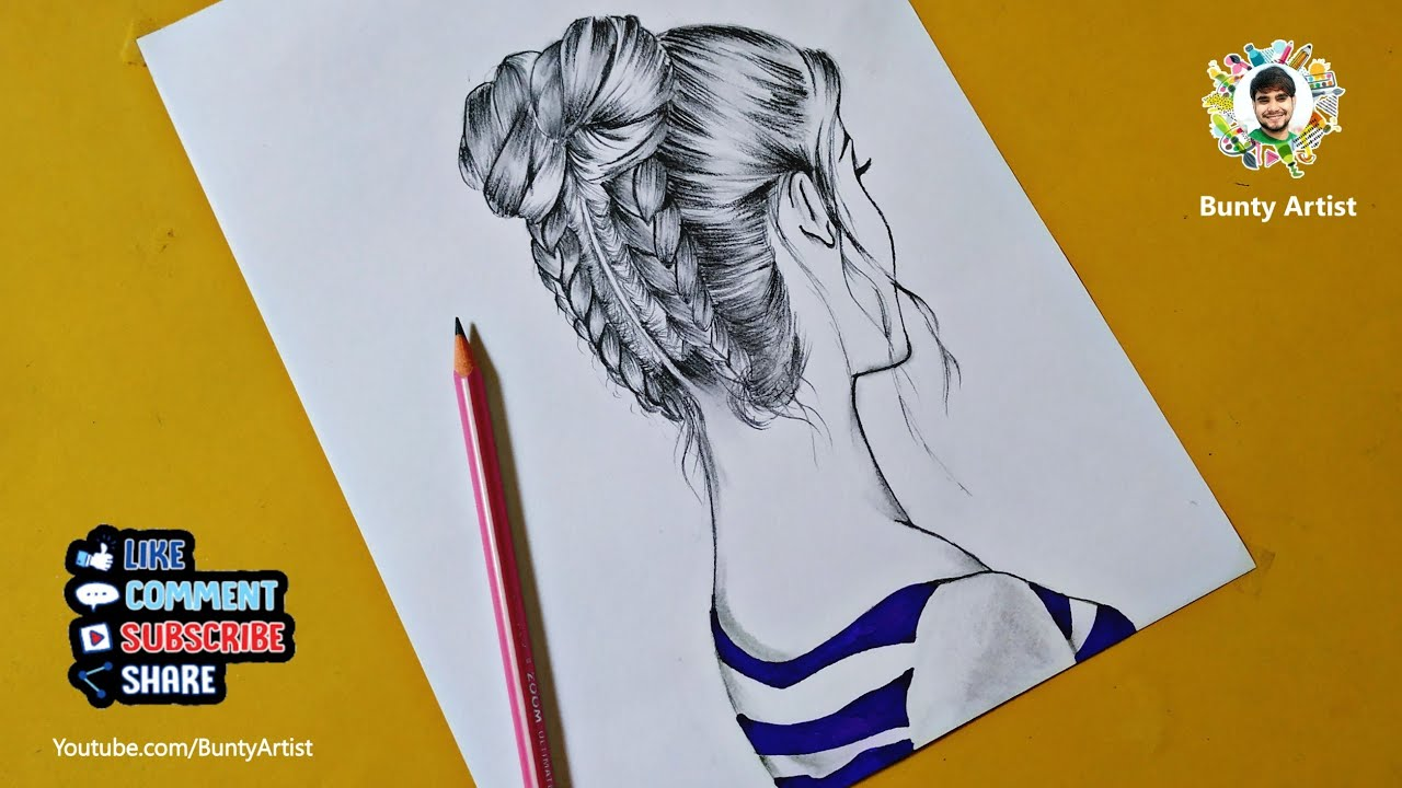 Beautiful Girl Drawing How To Draw Easy Girl Sketch Youtube
