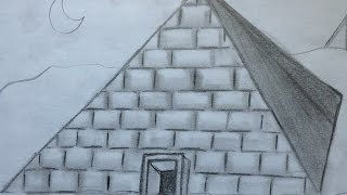 How to Draw a Pyramid For Beginners