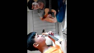 Giọt mưa trên lá hòa tấu :v ukulele + guitar