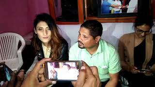 Casting Director Govind Solanki with Model Riya walia
