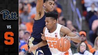 Pittsburgh vs. Syracuse Basketball Highlights (2018-19)
