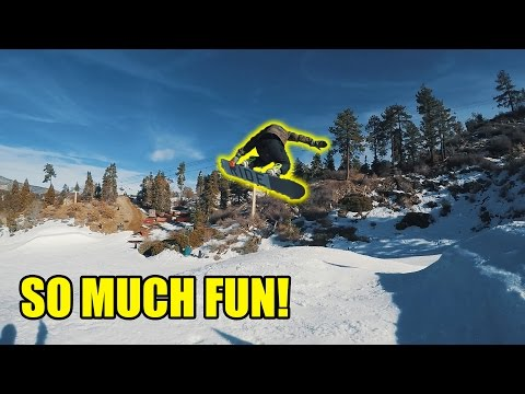 SNOWBOARDING FOR THE FIRST TIME!