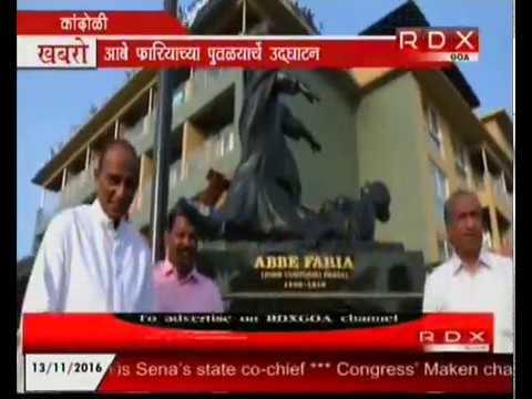 Unveiling of Abe Faria statue at Candolim
