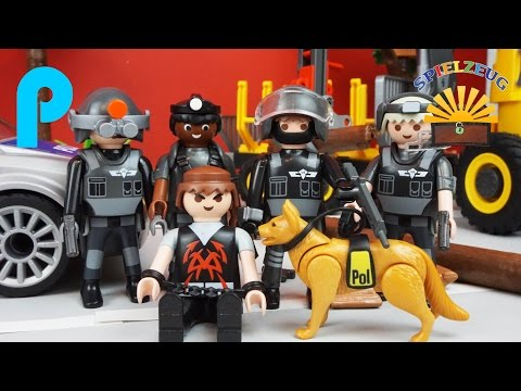 ausbruch aus dem gef ngnis und die playmobil polizei pl. Black Bedroom Furniture Sets. Home Design Ideas