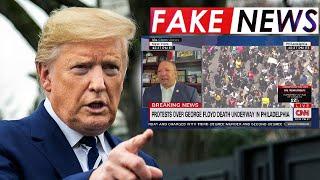 Вы совсем ДОЛБАНУЛИСЬ? Трамп НАПАЛ на CNN новый фейк о вмешательстве России в американские протесты