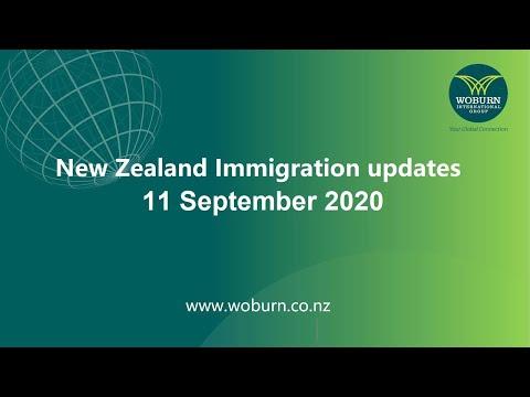New Zealand Immigration Update 11 September 2020