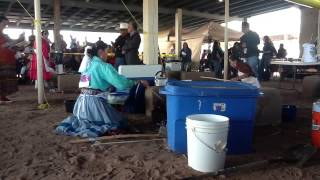 Miss Navajo 2012 Frybread Making Contest