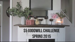 $5 Goodwill Challenge: Spring 2015