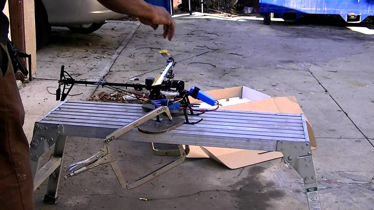 Ground resonance does not come from strapping a helicopter to a bench runryder moron youtube - Runryder rc heli ...