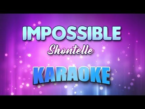 Shontelle - Impossible (Karaoke Version With Lyrics)