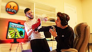 DISTRACTING FaZe Rug DURING FORTNITE! *Crazy Reaction*