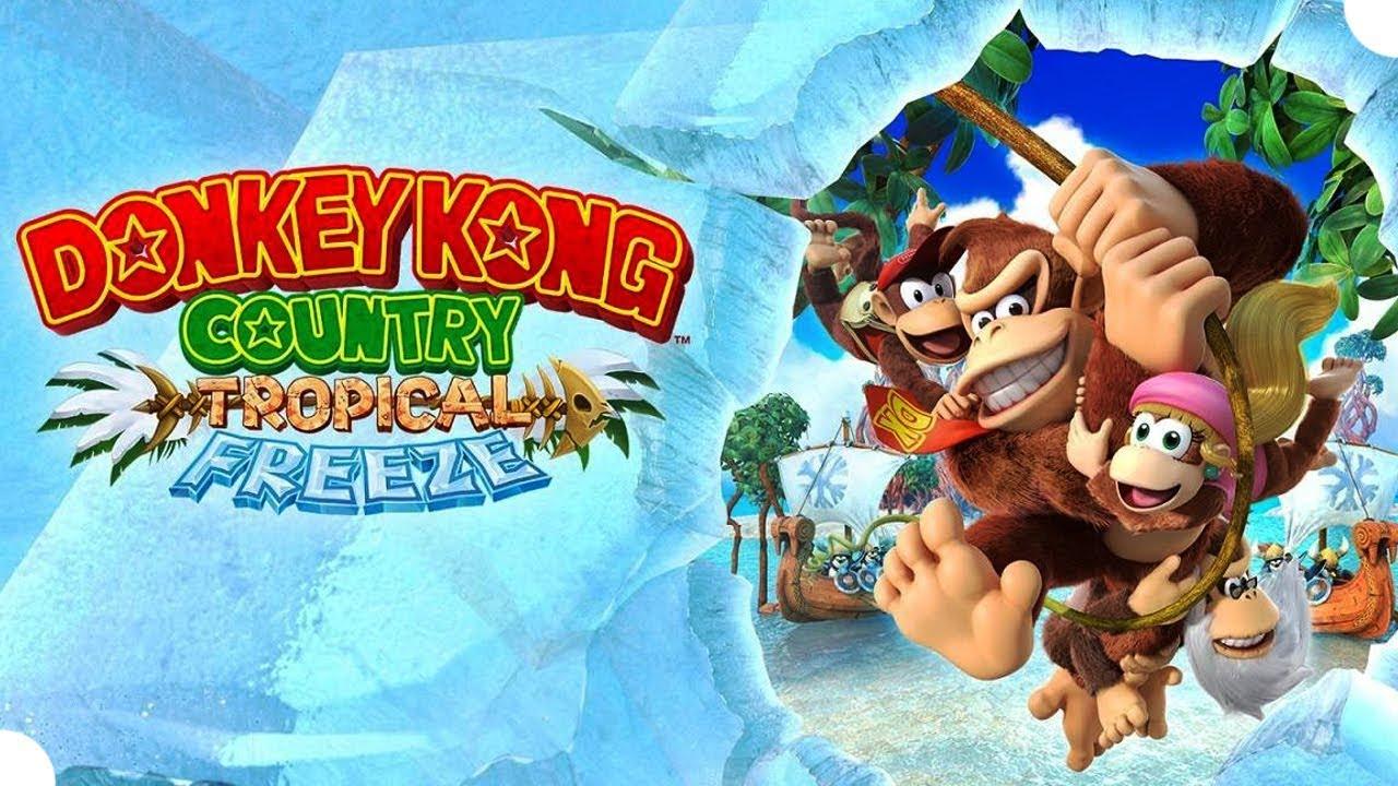 DONKEY KONG COUNTRY TROPICAL FREEZE - O Início de Gameplay, com Funky Kong, no Nintendo Switch!