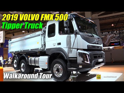 2019 Volvo FMX 500 Three Way Tipper Truck  Exterior and Interior Walkaround  2019 IAA Hannover