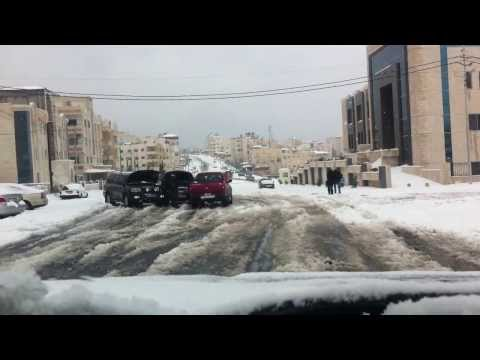 Snow in Amman Jordan 2013