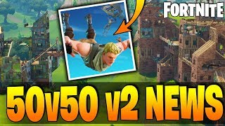 *NEW* Fortnite - 50v50 v2 NEWS & CHANGES! Patch v3.5.0 Details, Guided Missile Changes & Port-A-Fort