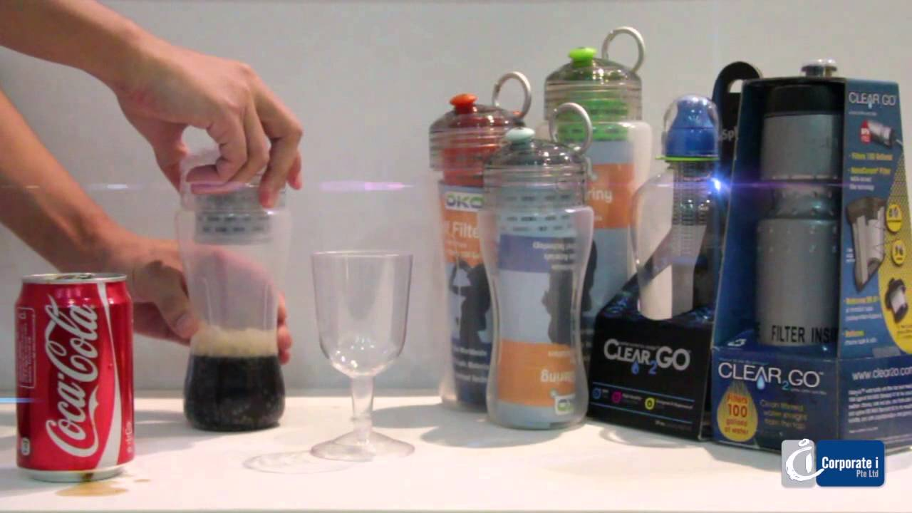 OKO Clear2Go Filtered Water Bottles YouTube