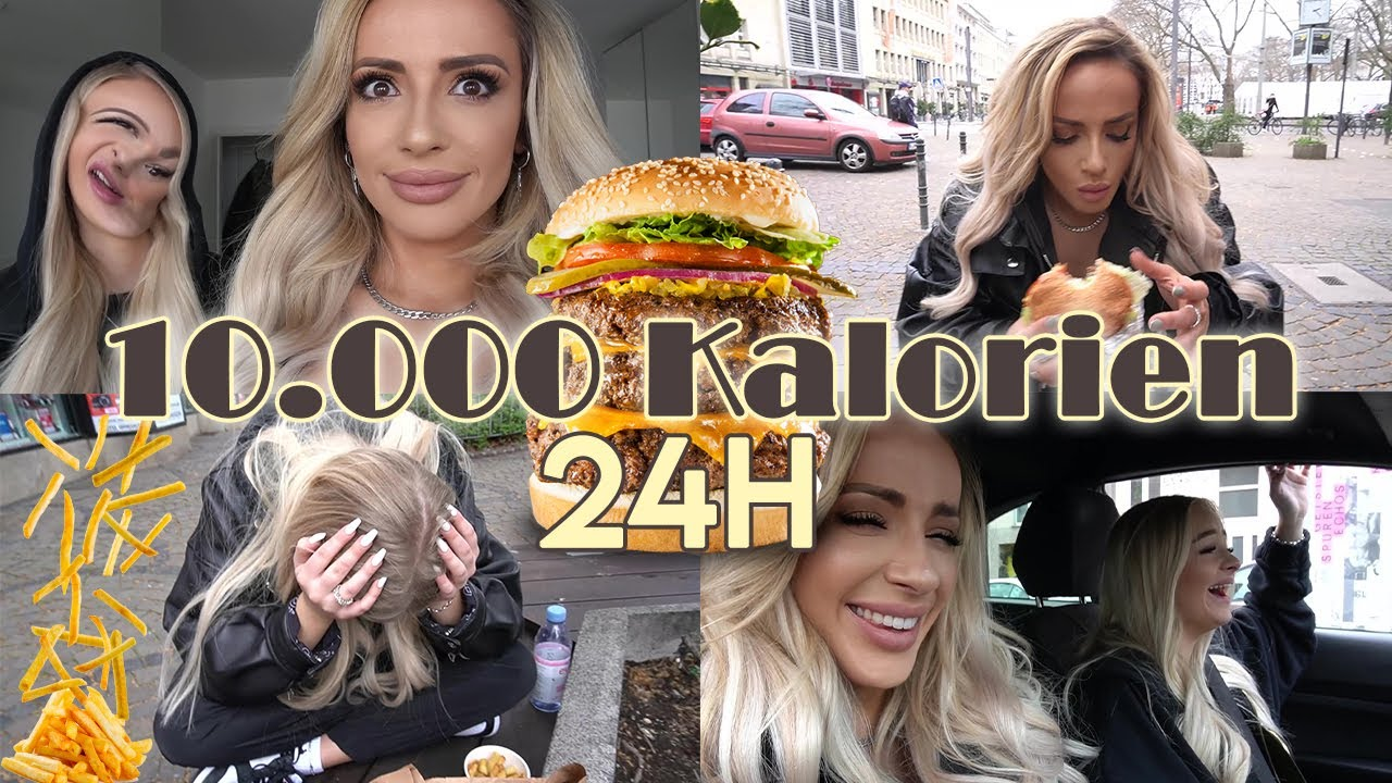 10000 Kalorien in 24h | Girls vs. Food | Schaffen wir das haha? w/ @ZCLINA | Jennifer Saro