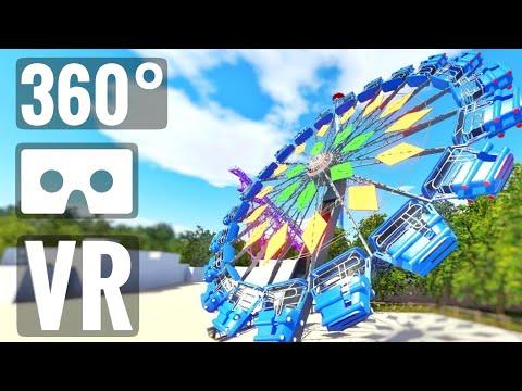 [360 VR Video] Extreme Ferris Wheel Roller Coaster Montañas Rusas PSVR