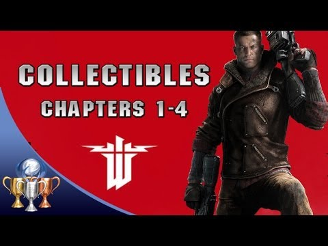 Wolfenstein The New Order Collectibles Walkthrough  [Chapters 1-4] (Gold, Enigma Codes & Letters)