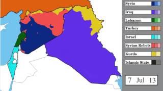 ИГИЛ, война в Сирии и в соседних странах  карта с 15 марта 2011 по  5 января 2017