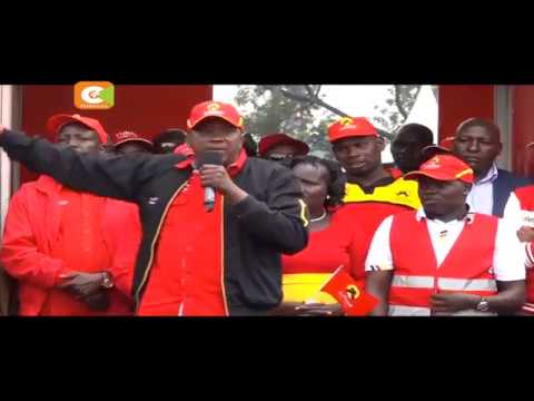 Kenyatta, Ruto charm Migori, Nandi voters
