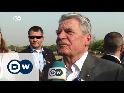 German president visits Abuja refugee camp | DW News