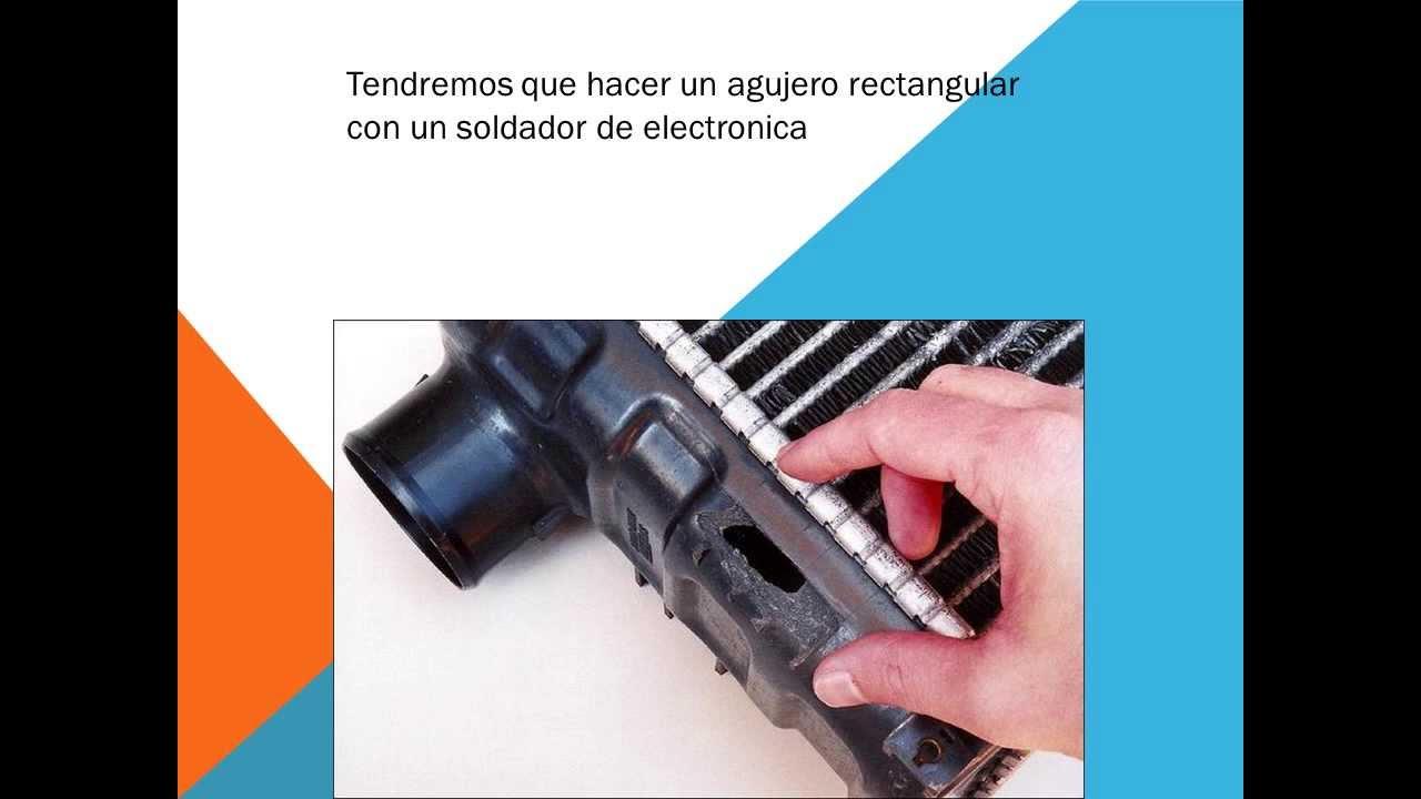 Como reparar el radiador del coche - YouTube