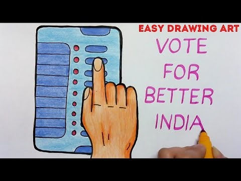 How To Make Vote For Better India Poster Drawing Voting Awareness Drawing Youtube