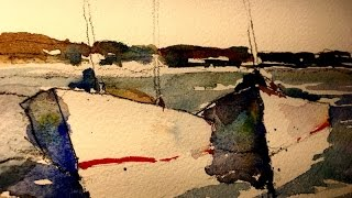 Step by Step Boats in Watercolor- by Chris Petri ( Part 1 of 4 )