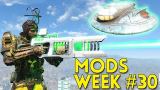 Fallout 4 TOP 5 MODS Week #30 - FLYABLE UFO, TELEPORTATION, PERSONAL DRONE