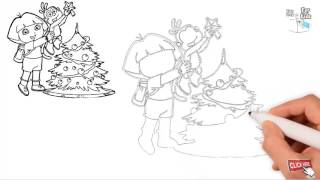 Beautiful Christmas Tree Drawing