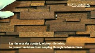 Porcelanosa Group: Laying Wood Mosaics By L'antic Colonial