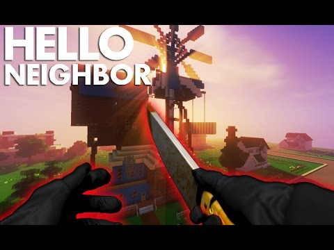Realistic Minecraft: Hello Neighbor - Neighbor KILLS COP?!?!
